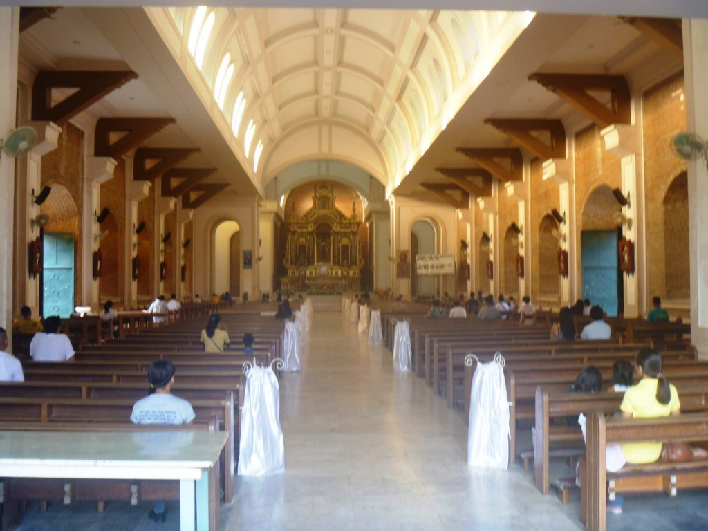 The cathedral's modern interior