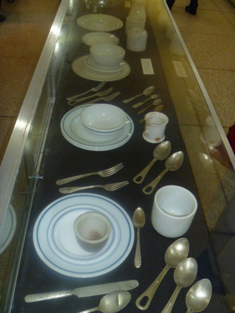 Display of cutlery and china