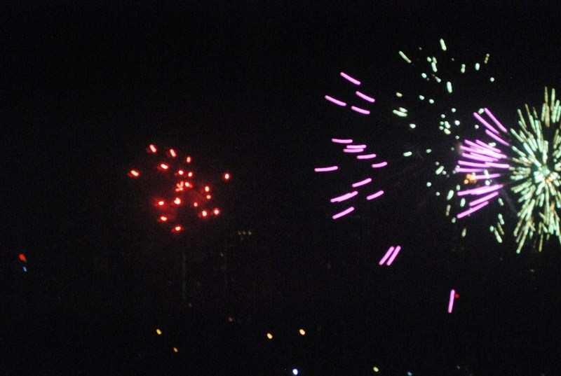 The pyrotechnic spectacle seen from our window