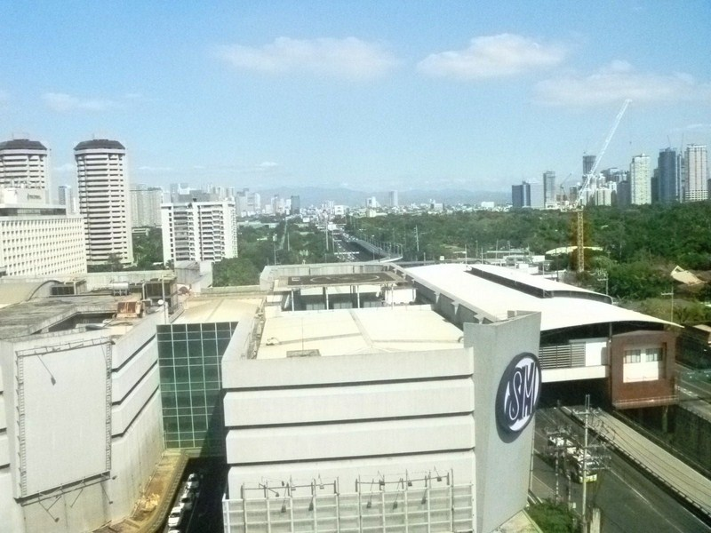 View of EDSA, Ayala MRT Station and Ayala Center from our room