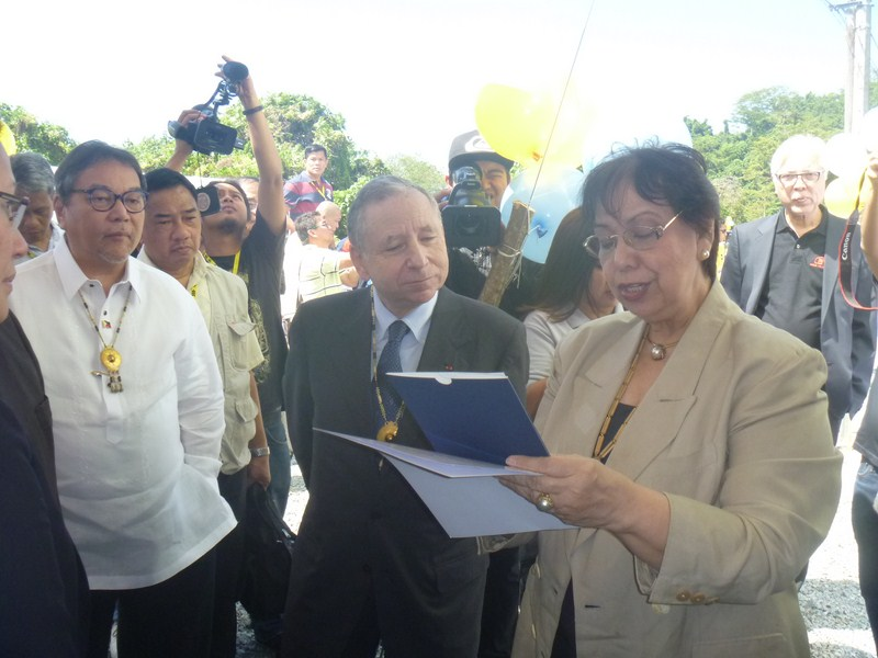 L-R: Mr. Ramon Jimenez, Mr. Jean Todt and Dr. Mina Gabor