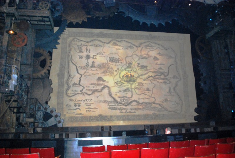 "The ""Wicked"" stage set-up"
