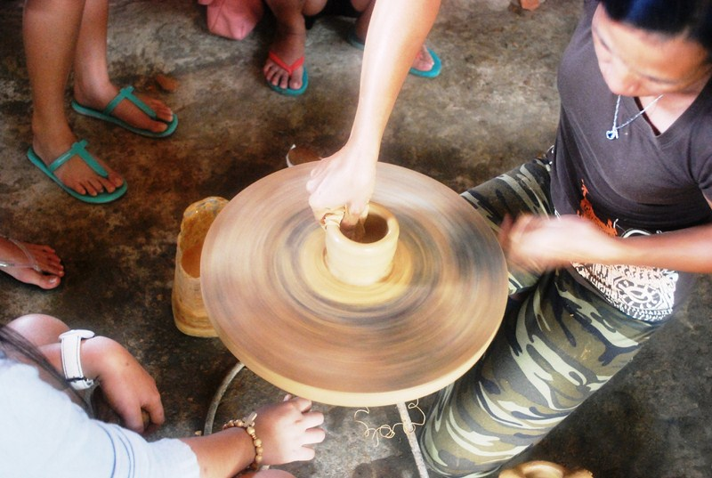 A native potter at work