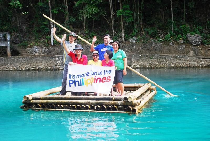 Bamboo rafting at Malumpati Spring