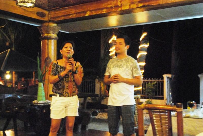 Gigi Bautista with Pandan Mayor Jonathan D. Tan