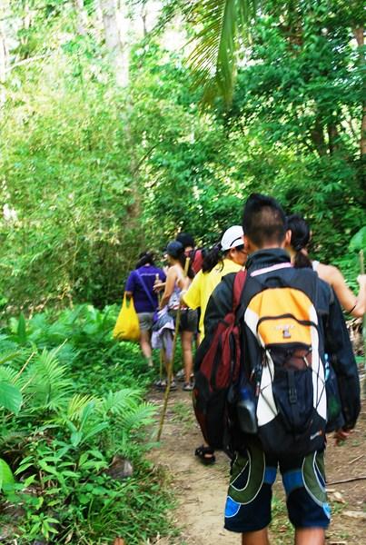 Start of the trek along the river's edge