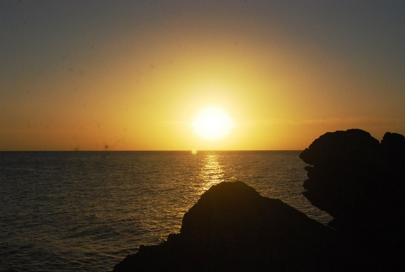 The magnificent sunset at Pucio Point