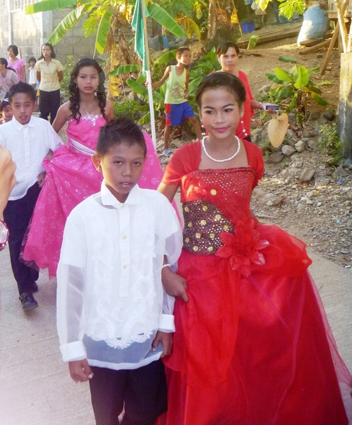 The Flores de Mayo-like parade