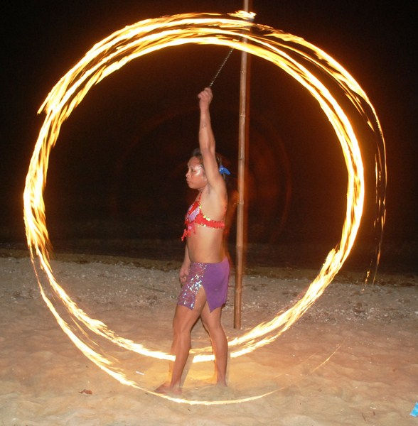 The fire hoop performance