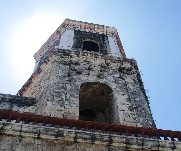 The single, tapering bell tower
