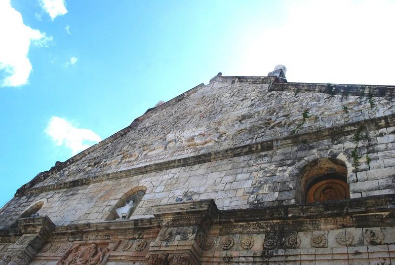The triangular pediment