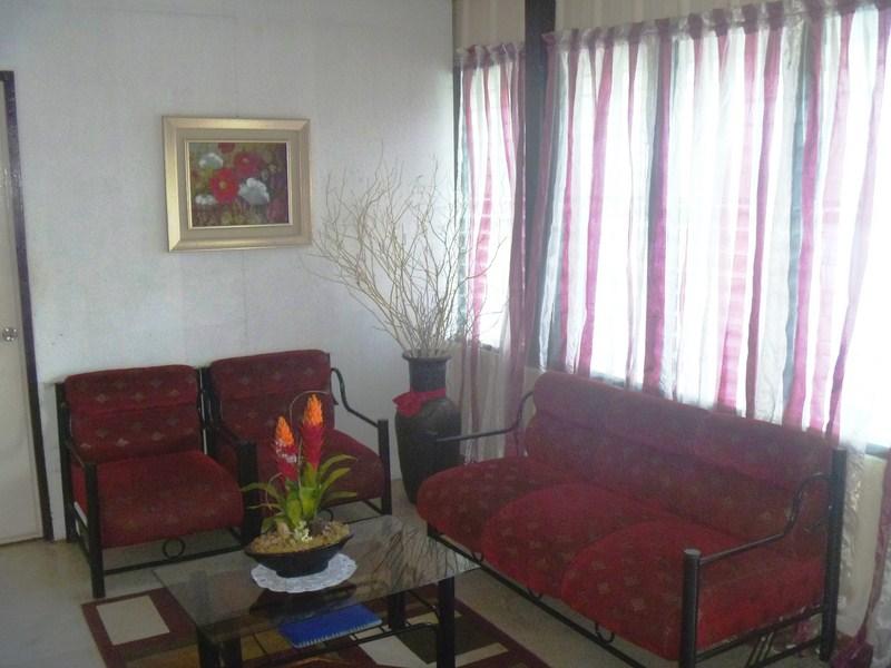 The hometel's small lobby