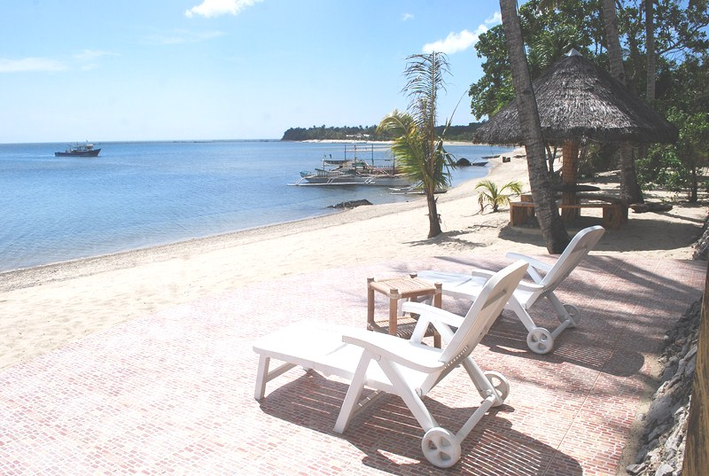 White sand beach of Pandan Bay