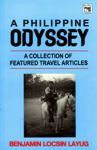 "My first book ""A Philippine Odyssey: A Collection of Featured Travel Articles.""  That's me with daughter Cheska on cover"