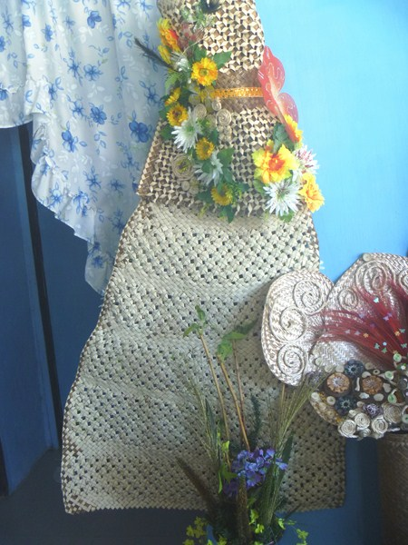 A woman's terno made with banig