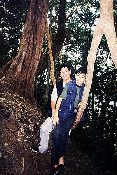 Father and son on Mt. Makulot