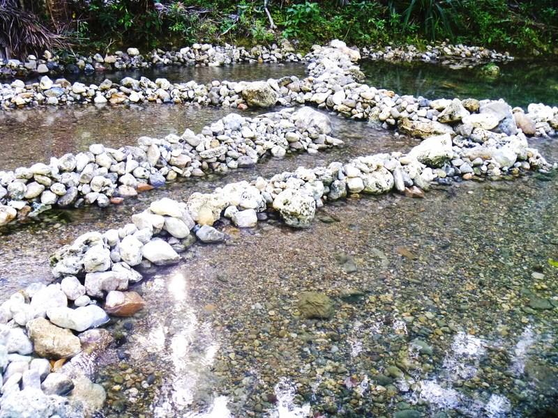 Series of pools at Bungan-Bungan Spring