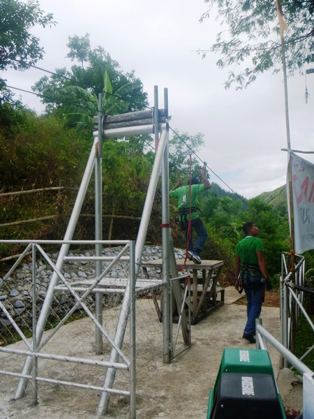 The zipline staging platform