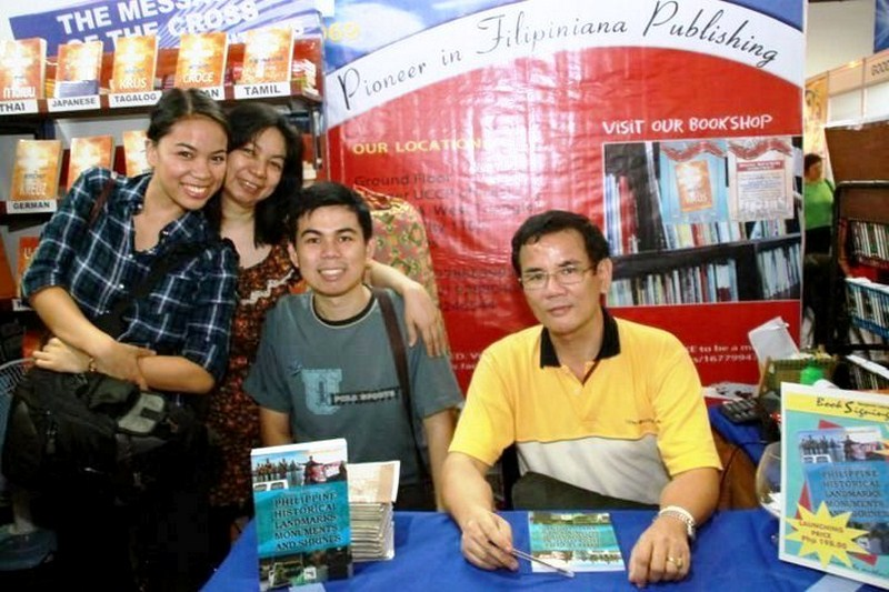 With my family at the launching of my fourth book, September 18, 2010, at SMX Convention Center