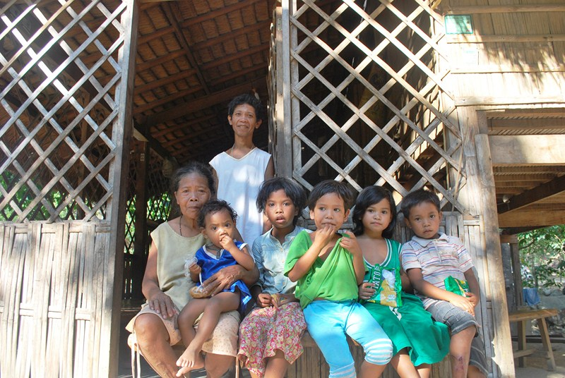 An Iraya=Mangyan family in their new home
