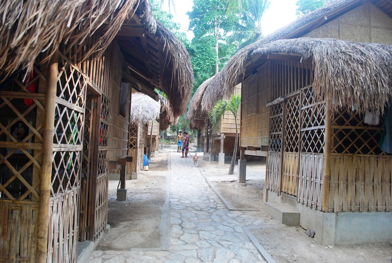 Neat row of Mangyan houses