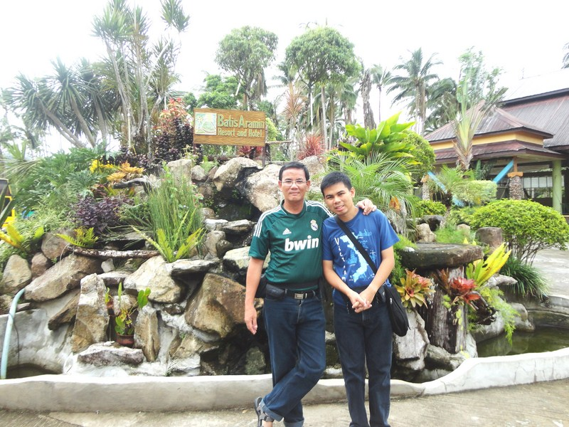 Author and Jandy at Batis Aramin Resort & Hotel