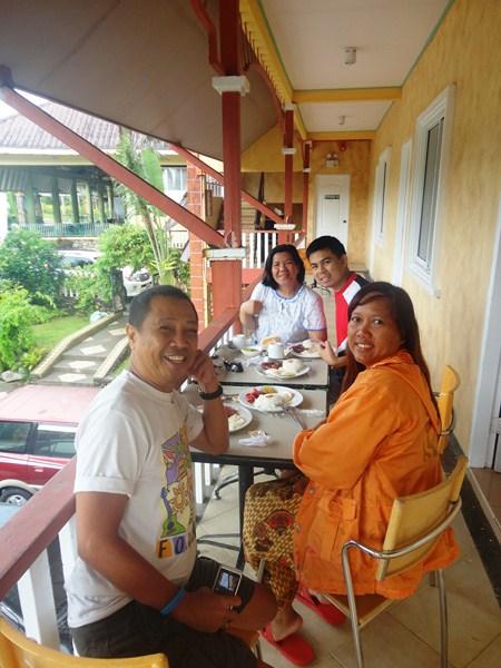 Breakfast at the balcony