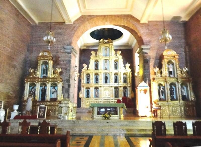 The church's three retablos