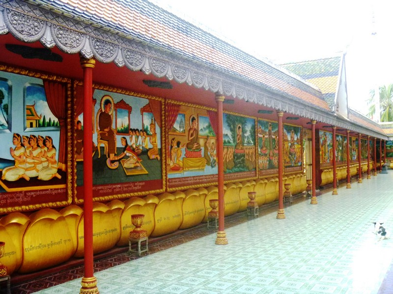 Inner wall with religious murals