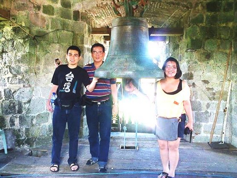 Jandy, the author and Maricar at the bell tower