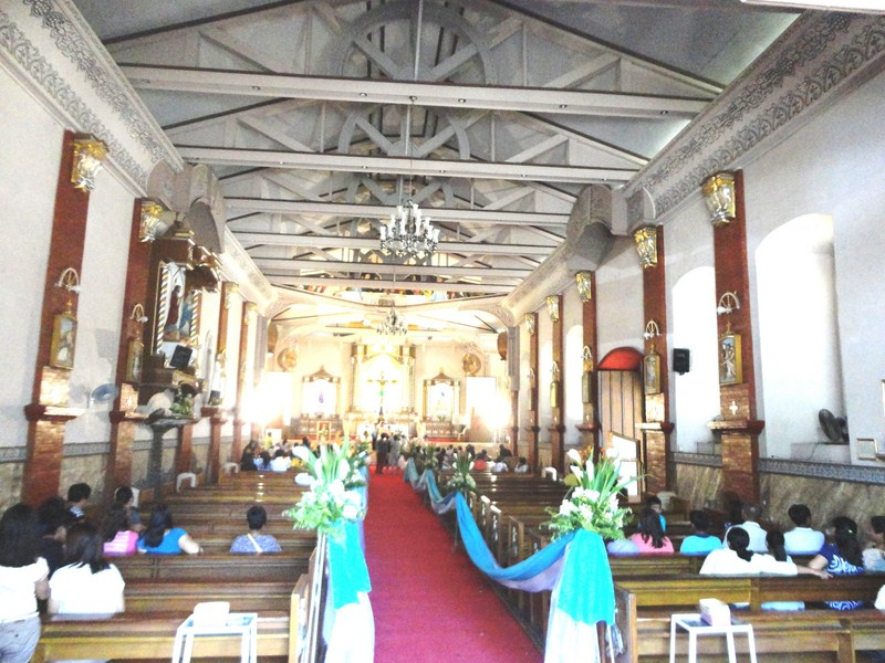 The church interior