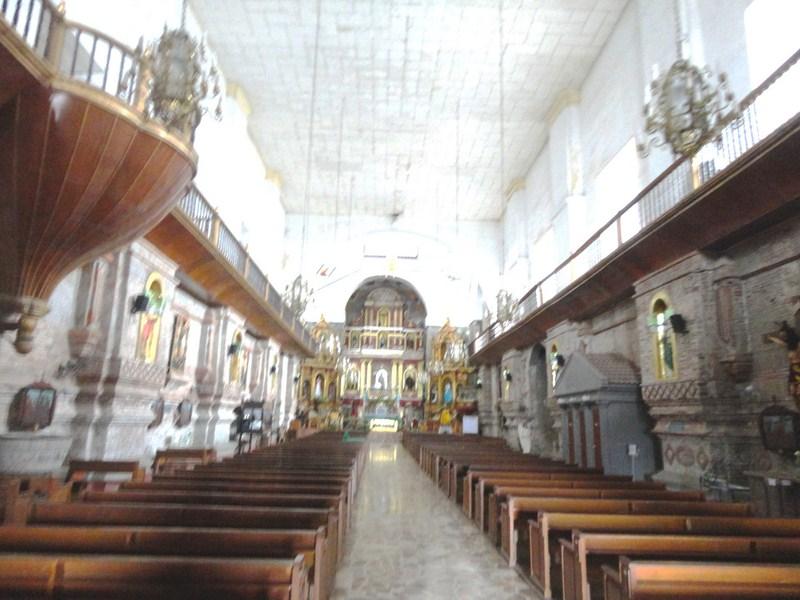 The church's long rectangular nave