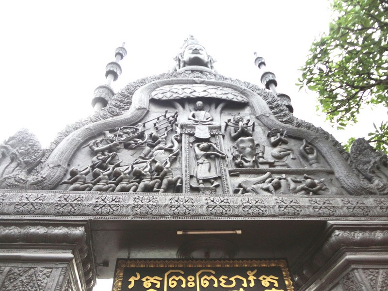 The imposing temple gate