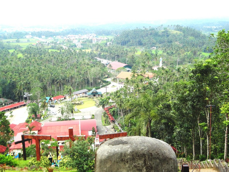 View from top of the hill