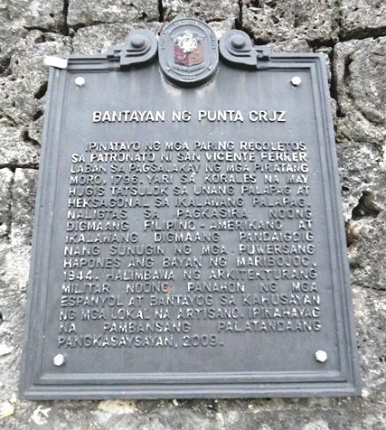Plaque installed by National Historical Intitute