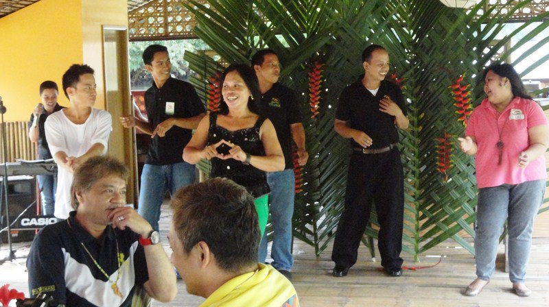 The band and staff of Village Floating Resto & Cruises