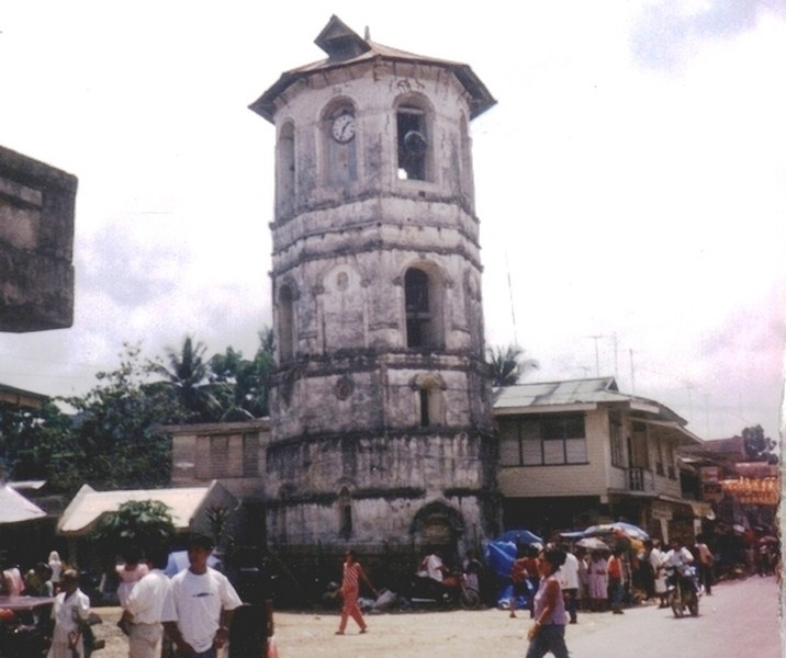 The bell tower prior to the earthquake