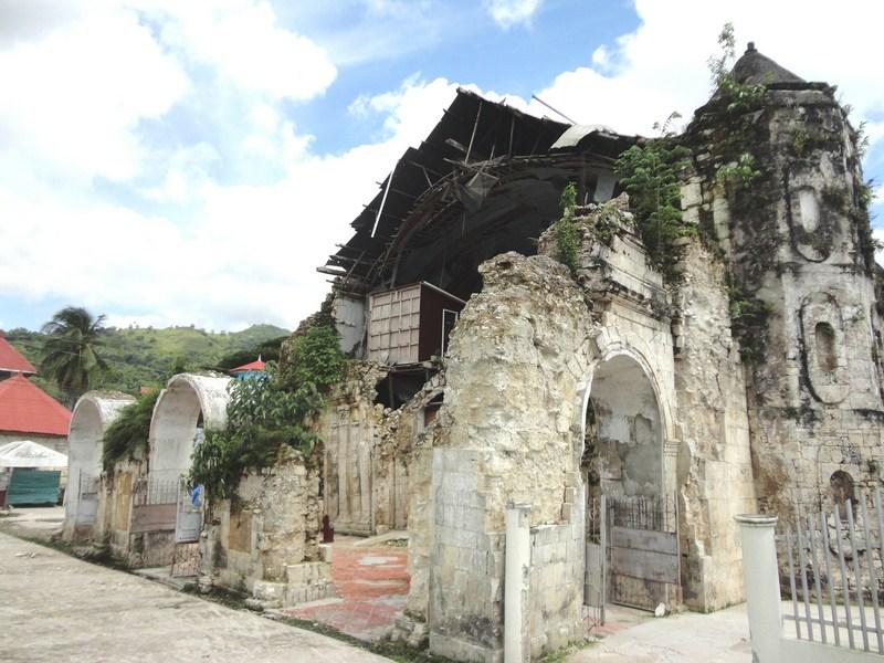 The ruined facade
