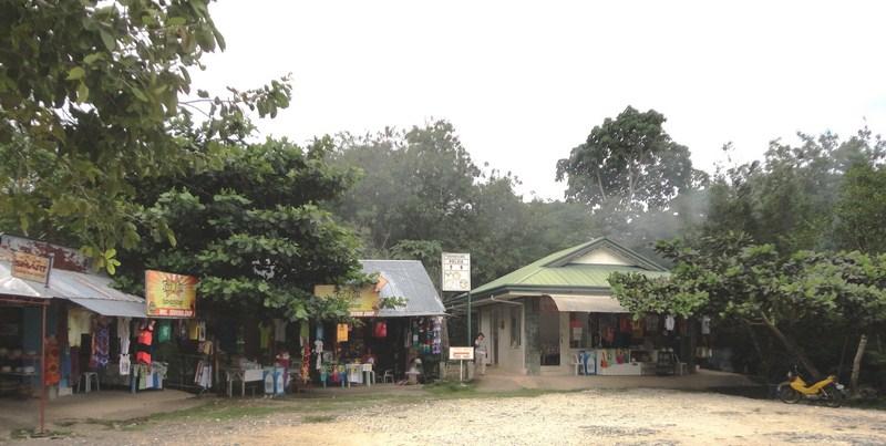 The souvenir stalls above ground