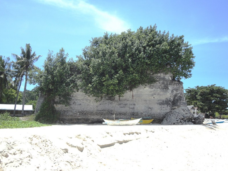 The triangular, Spanish-era fort