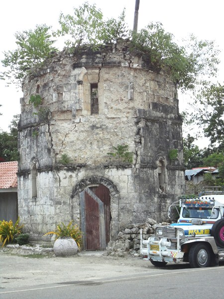 What remains of the collapsed bell tower