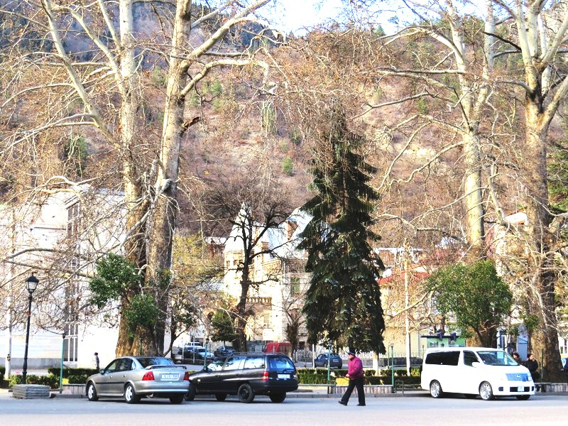 The mountain spa town of Borjomi