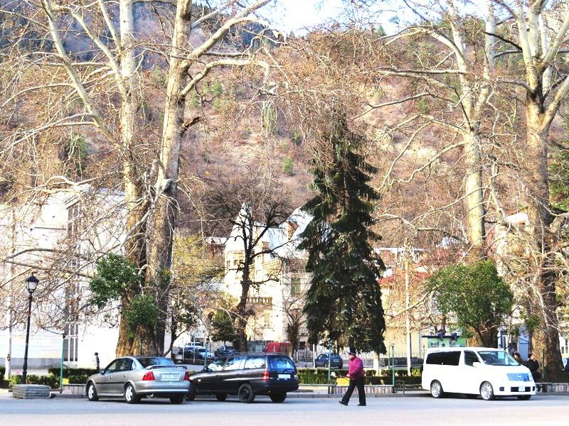 The mountain spa town of Borjomi