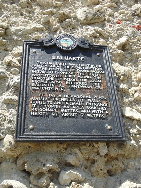 Historical plaque of baluarte