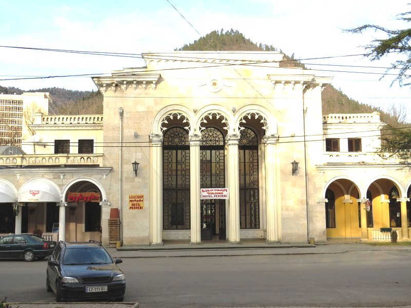 The Soviet-era railway station