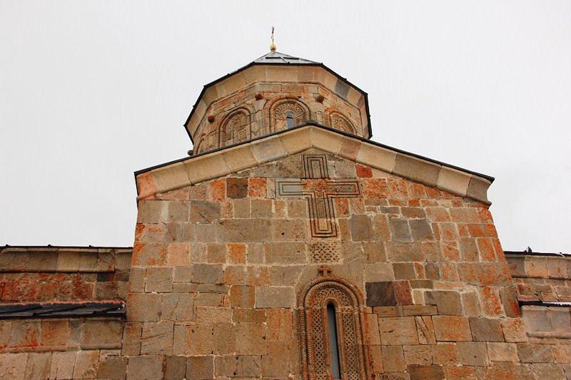 The church facade