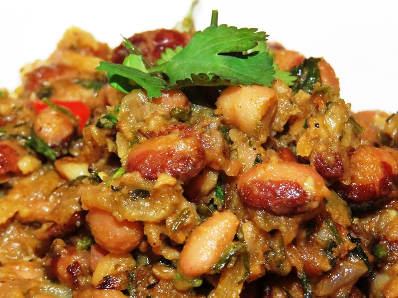 Kidney beans with wild thyme
