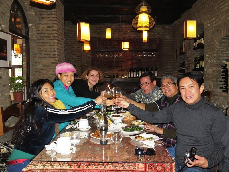 L-R- Mel, Riva, Sopho, the author, Pancho and Buddy