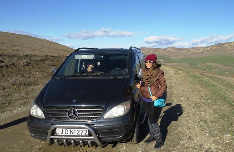 The Mercedes-Benz Vito panel van we used