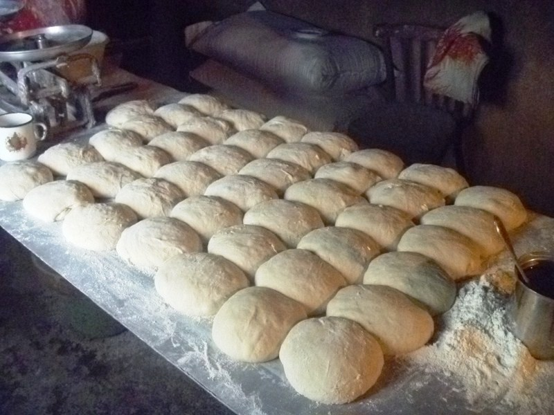 The individual balls of dough